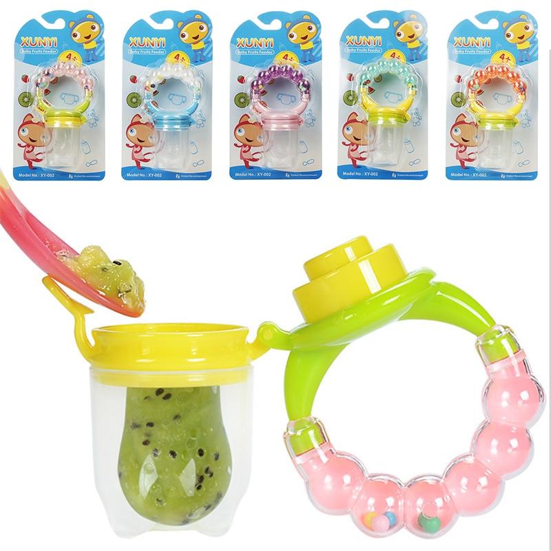 1Pcs Fresh Food Nibbler Baby Pacifiers Feeder Kids Fruit Feeder Nipples Feeding Safe Baby Supplies Nipple Teat Pacifier Bottles in Nipple from Mother Kids