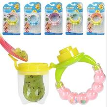 1Pcs Fresh Food Nibbler Baby Pacifiers Feeder Kids Fruit Nipples Feeding Safe Supplies Nipple Teat Pacifier Bottles