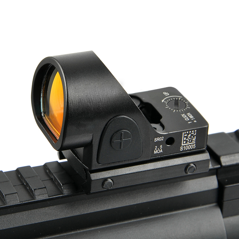New Mini SRO Red Dot Scope Sight RMR Collimator Sight Airsoft Hunting Reflex Sight Fit 20mm Weaver Rail Universal Glock Mout