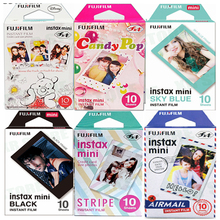 Fujifilm Instax Mini Film 11 8 9 필름 10 매 카메라 용 미니 인스턴트 포토 용지 Instax Mini7s 50s 90 Blue Black Airmail