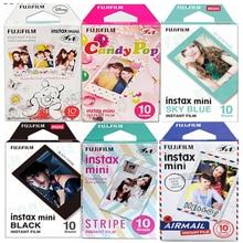Fujifilm Instax Mini película 11, 8, 9, 10 hojas, Mini papel fotográfico instantáneo para cámara Instax Mini7s 50s 90, Azul, Negro, correo aéreo