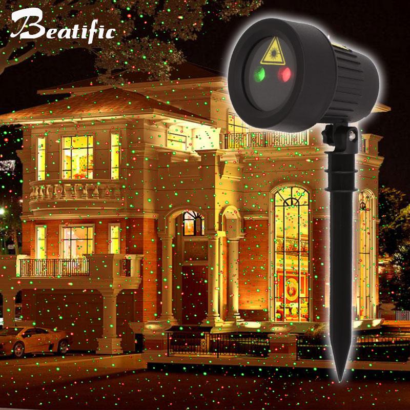 Laser Projector Lights Deco Noel Outdoor Garden Lawn Flowerbed Landscape Lighting