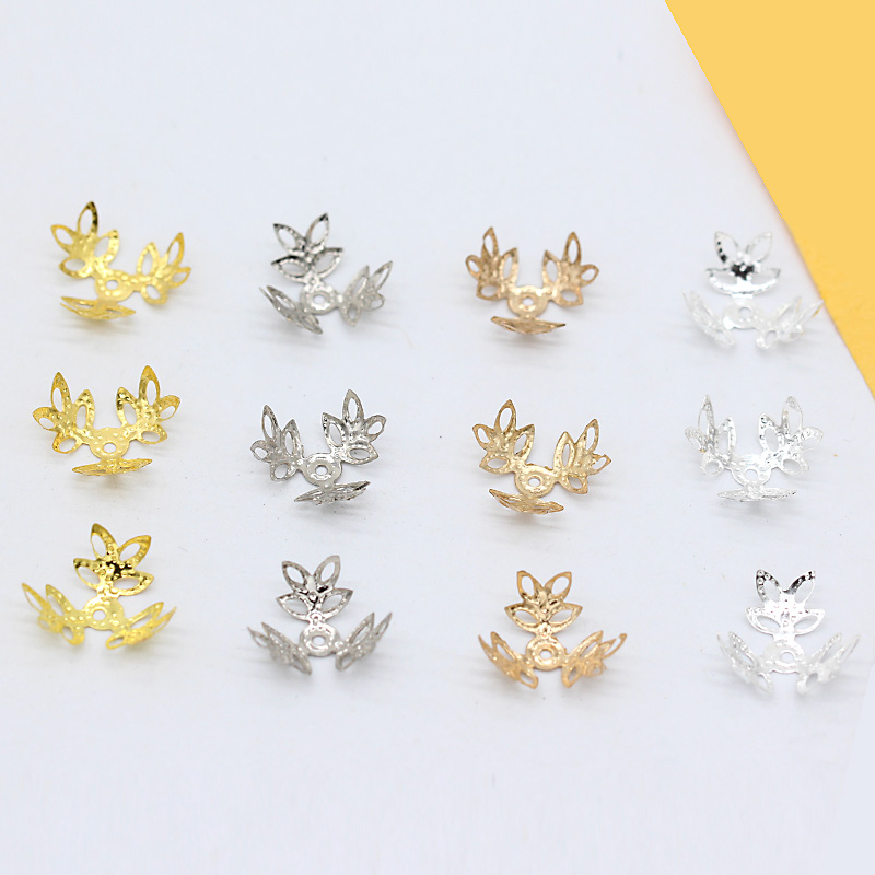 Free Ship 100PCs Silver Plated Filigree Flower Beads Caps  For Jewelry 16mm