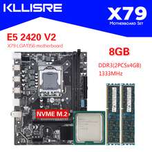 Kllisre X79 1356 motherboard set with Xeon LGA 1356 E5 2420 V2 cpu 2pcs x 4GB= 8GB 1333MHz DDR3 ECC REG memory RAM PC3 10600R