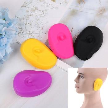 1 Pair Shower Waterproof Hair Coloring Ear Protector Cover Caps Ear Cover Pretty Pro Hair Salon Earmuffs