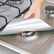 4 шт./компл. Кухня Пособия по кулинарии инструменты из двух вещей черно-многоразовая фольгированная газовая плита диапазон плита защита горелок гильзы крышка для уборки