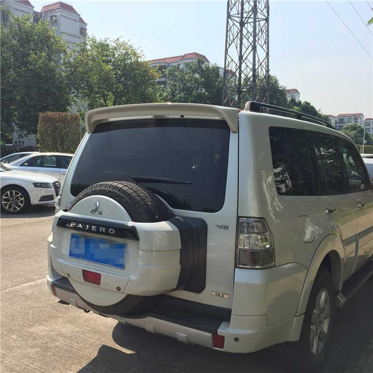 三菱 V73 パジェロスポイラー abs 材料車のプライマー色リア三菱パジェロスポイラー