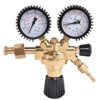 Ar de bronze/co2 medidor redutor argônio regulador de dióxido de carbono mini redutor de pressão dupla calibre 0 4500 psi|Lasers de dióxido De carbono|   -