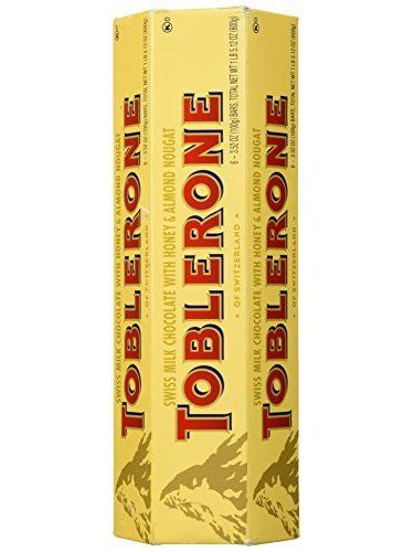 TOBLERONE SWISS MILK CHOCOLATE WITH HONEY AND ALMOND NOUGAT 6 X 100 G BARS