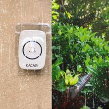 Waterproof Plastic Cover for Wireless Doorbell Door Bell Ring Chime Button Trans