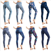 2021 New Printed Leggings Women Soft Elasticity Casual Leggins Mujer Ankle-Length Polyester Spandex Fitness Legging Femme Pants