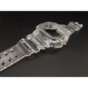 Image 2 - Reemplazo de correa de silicona para reloj GX56, correa de goma deportiva resistente al agua, correas de reloj transparentes, bisel, herramienta de banda de reloj