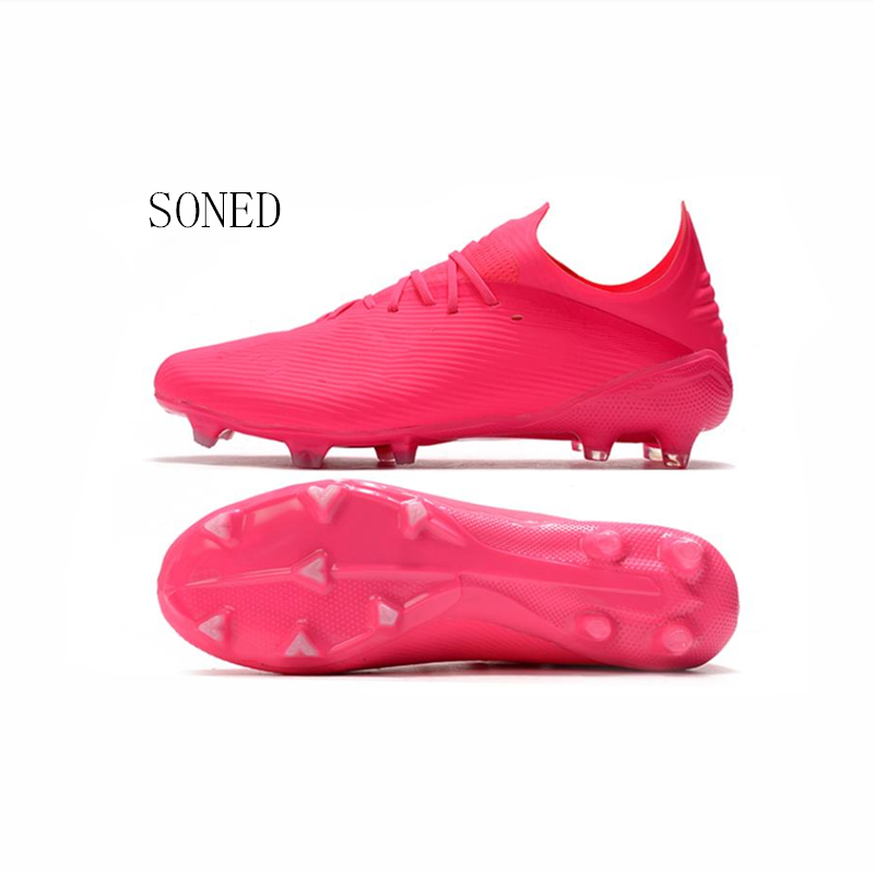 Soccer Shoes For Men Kids Indoor Football Shoes 2020 Turf Futsal Original Pink Comfortable Waterproof Football Boots