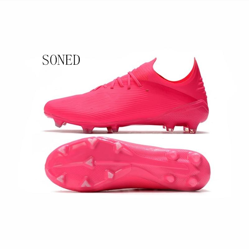 Soccer Shoes For Men Kids Indoor Football Shoes 2020 Turf Futsal Original Pink Comfortable Waterproof Football Boots