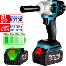 320n.M Cordless Brushless Electric Impact Wrench Socket Wrench Li-ion Battery Hand Drill Installation For Makita 18V Battery