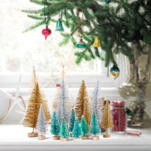 Christmas Decorations for Home 8pcs Mini Tree Artificial Fake Trees Navidad Natal Merry Gift Xmas Supplies