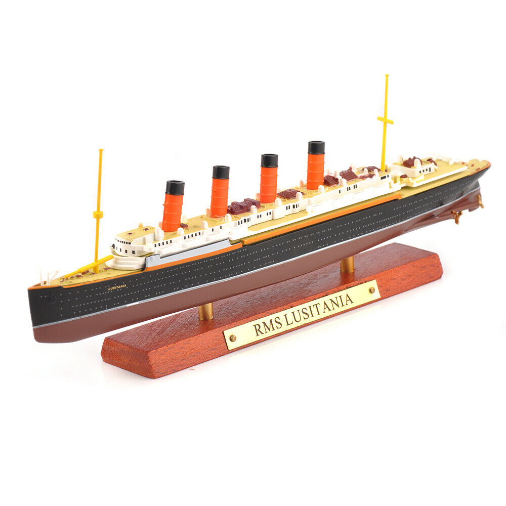 Kid Toys Gift 1/1250 Scale Diecast France&Normandie&RMS Lusitania&RMS TITANNIC Steamship Cruise Ship Model Collection