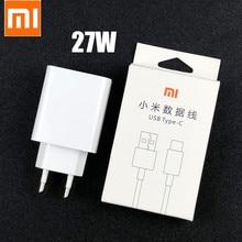 Original Xiaomi Fast Charger 27W QC 4.0 Turbo Charge ADAPTER USB Type C สายสำหรับ Mi 9 SE 9 T 10 Pro Redmi หมายเหตุ 7 8 9 K20 30 Pro