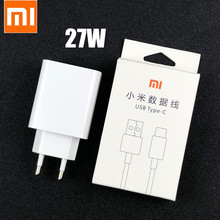 Original Xiaomi Fast Charger 27W QC 4.0 Turbo Charge Adapter Usb type  c cable for Mi 9 se 9t 10 pro Redmi note 7 8 9 K20 30 pro
