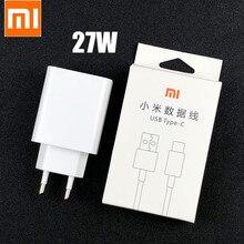 Oryginalny Xiaomi szybka ładowarka 27W kontroli jakości 4.0 Turbo Adapter do ładowania rodzaj Usb c kabel do Mi 9 se 9t 10 pro Redmi uwaga 7 8 9 K20 30 pro