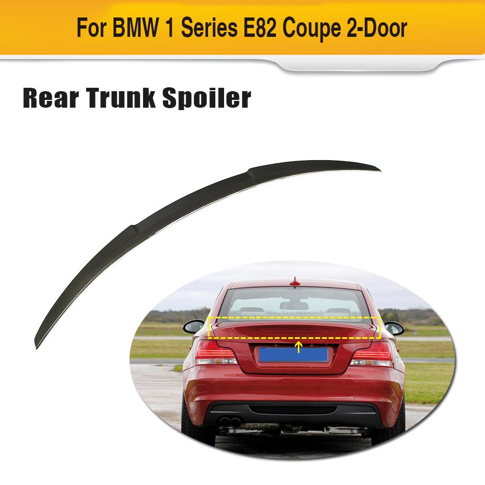 Car Rear Trunk Spoiler Wing For BMW 1 Series E82 Coupe 2 Door 2007 - 2012 Trunk Lip Boot Wing Spoiler Carbon Fiber