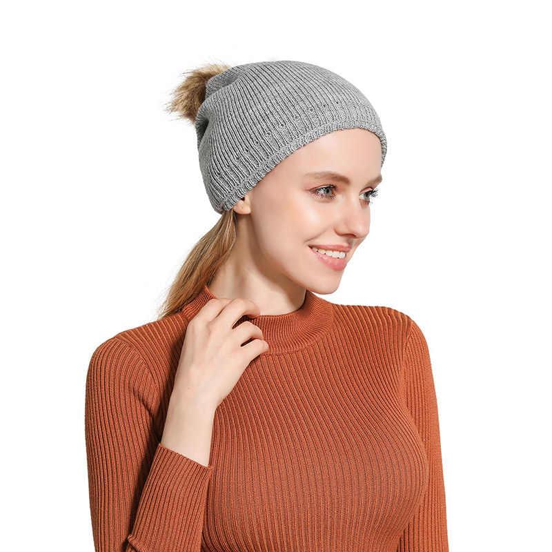 Для женщин Вязание однотонные Цвет двойной Слои зимняя уличная теплая шерсть