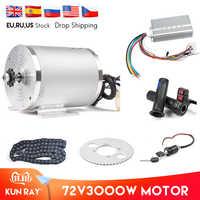 1Set Elektrische Motor 72V 3000 W, Bürstenlosen Motor Controller 48 V-72 V 50A, reverse Twist Drossel, Power Zündschloss Roller Kit