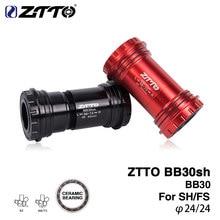 ZTTO BB30sh dolne wsporniki ceramiczne BB30 24mm Adapter rowerowa prasa pasuje do części do roweru MTB podwójna silikonowa pieczątka