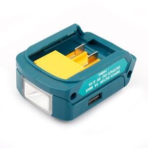 Image 3 - Ulepszony Adapter do Makita ADP06 12V BL106/BL02/BL104/BL03/BL02 USB CXT akumulatorowe źródło zasilania litowo jonowego ze światłem LED