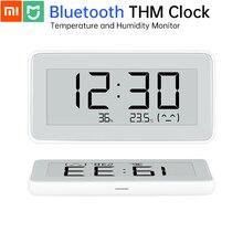 Original xiaomi mijia bluetooth mi monitor de temperatura e umidade relógio digital alta sensível e tinta tela magnética adesivo