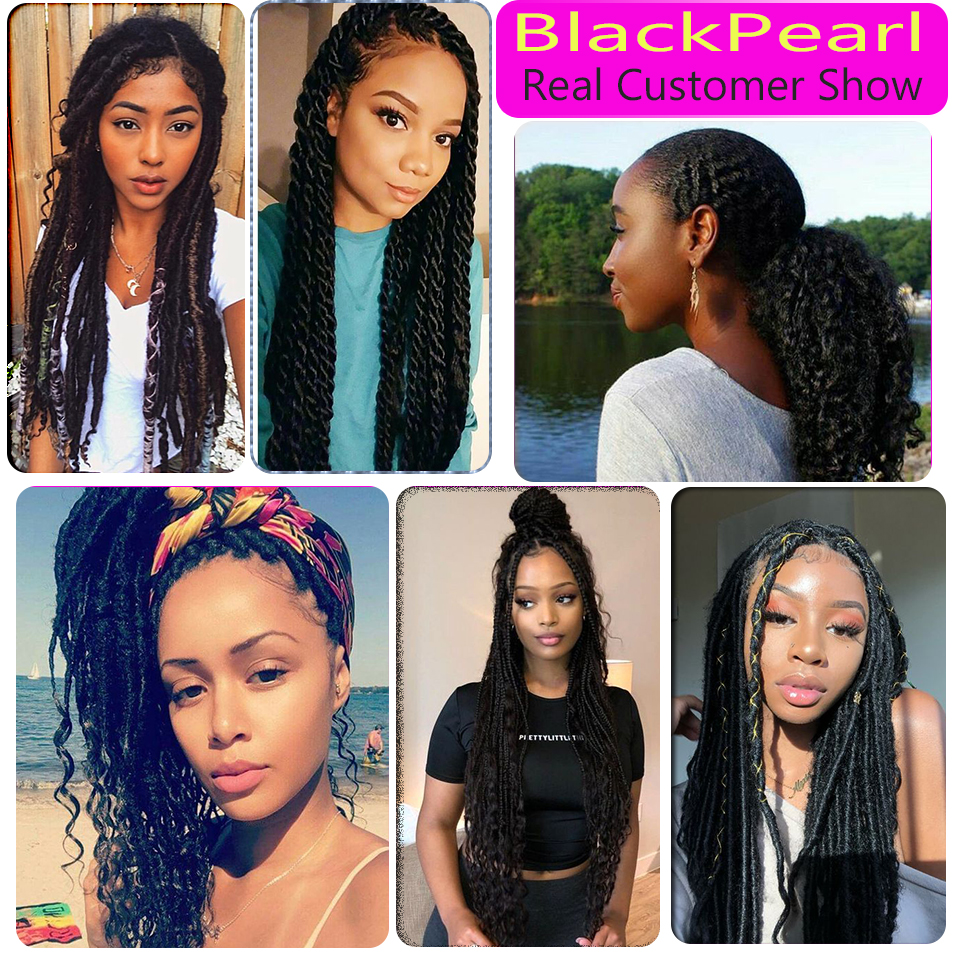 Image 5 - Black Pearl Pre Colored Deep Wave Brazilian Hair Bulk Braiding Hair Extensions 1 Bundle Remy Human Hair Bundles Braids Hair Dealhair dealshair bundleshair extension -