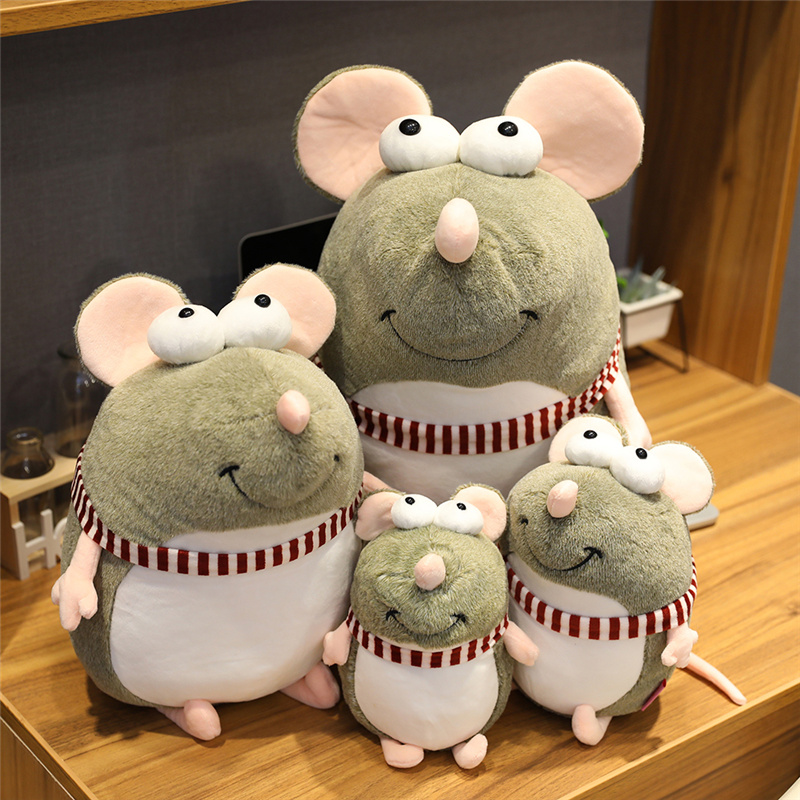 21cm Kawaii Plush Big Eyes Mouse Toy Stuffed Animal Doll Baby Kids Children Birthday Gift Shop Home Decor Peluche Mascots