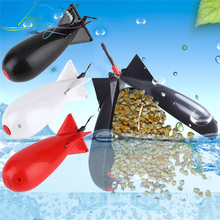 Carp Fishing duże rakiety Spod Bomb Fishing Tackle podajniki pelet Rocket Feeder Float uchwyt na przynętę Maker narzędzie walki akcesoria tanie tanio plastic Wyrzutnia do zanęt