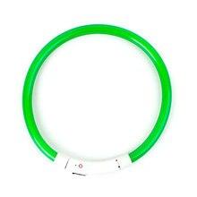 Светящийся светодиодный ошейник для собак с зарядкой от USB, водонепроницаемое ожерелье, безопасный ночной мигающий светильник для домашних животных, модный ремень