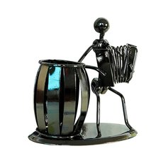 Home Decoration Accessories Iron Man Pen Holder Mental Musician Miniature Music Ornaments Creative Desk Crafts Furniture Gifts