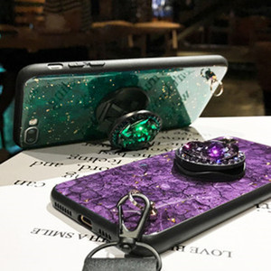 Image 4 - KONSMART Fashion Phone Case Reno 4 Lite Luxury Glitter Marble Silicone Soft Ring Back Cover For OPPO Reno 4lite Case With Strap