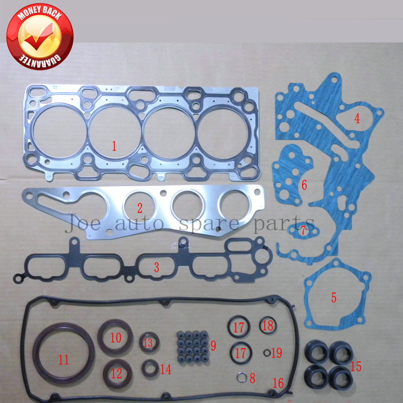 <font><b>4G69</b></font> Engine Full Gasket Set kit for <font><b>Mitsubishi</b></font> Outlander//Grandis/Galant 2.4L 2378cc 2003- 50253400 MD979394 image