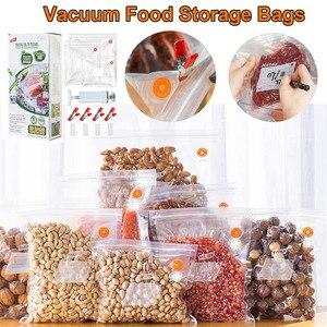 Image 1 - を taili 再利用可能な真空セーバー袋食品収納袋圧縮袋生鮮食品をキープ & おいしいスー vide ため調理冷蔵庫オーガナイザー