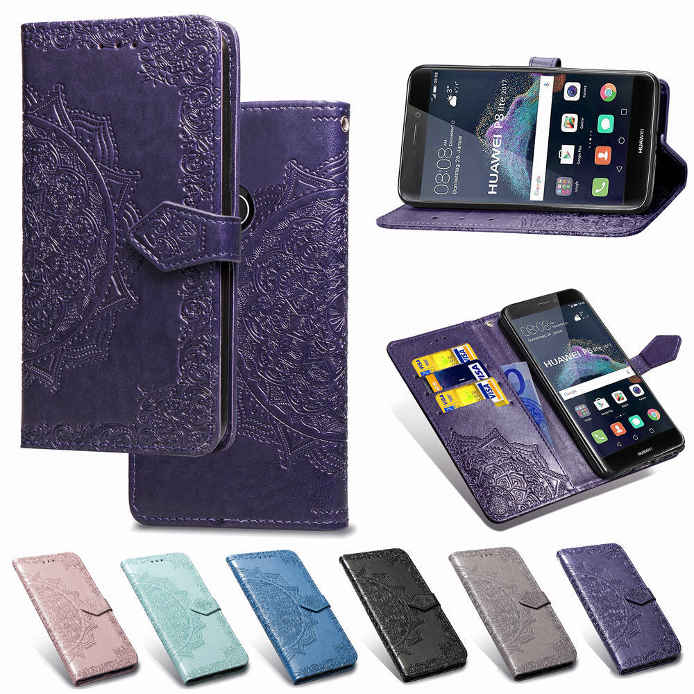 For <font><b>Huawei</b></font> Y6 Y7 Y9 Y5 Y3 Pro Prime Lite 2019 <font><b>2018</b></font> Flower Leather Flip Book <font><b>Case</b></font> For <font><b>Huawei</b></font> <font><b>Y</b></font> 3 5 6 7 <font><b>9</b></font> Wallet Card Cover <font><b>Case</b></font> image
