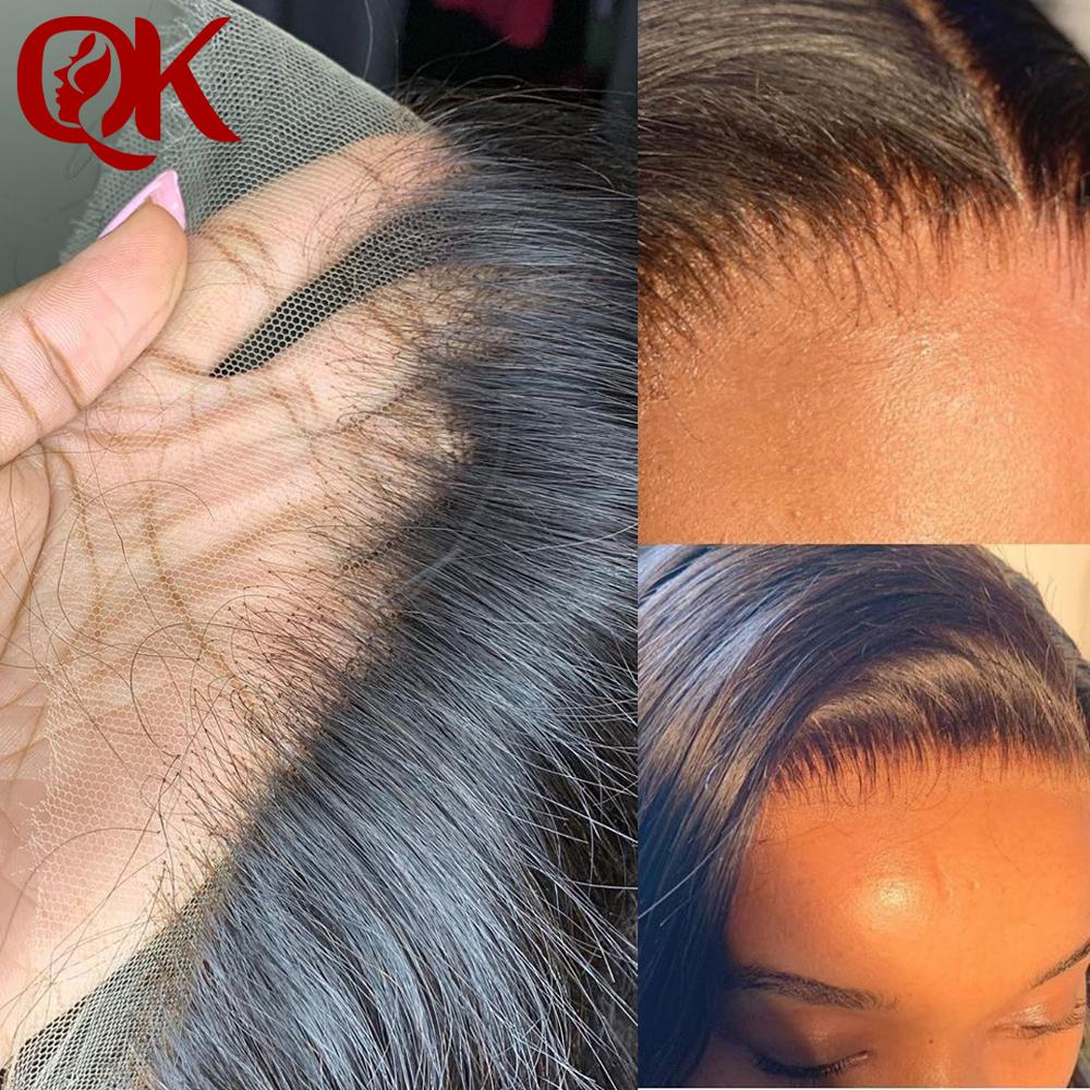 QueenKing Hair 13x4 Ear To Ear Super HD Lace Peruvian Straight Hair Lace Frontals Swiss Lace Remy Hair