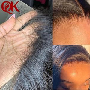 QueenKing Hair 13x4 ucho do ucha Super HD koronkowe peruwiańskie proste włosy koronkowe fronty szwajcarska koronka Remy włosy