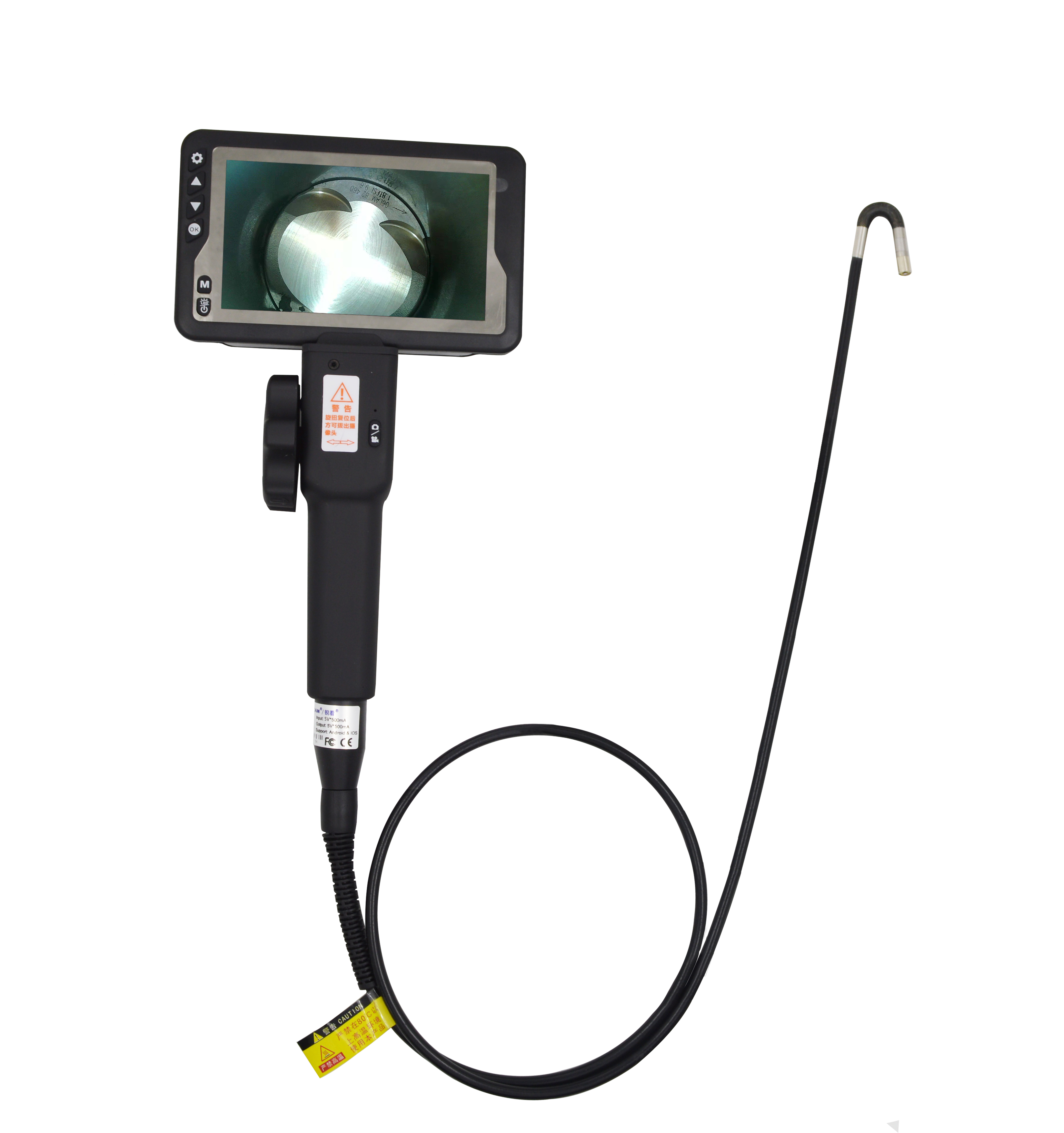 2 Directions  Rotation Endoscope Videoscope Camera 5.5mm Industrial Video Borescope Inspection Snake Camera With Screen For Car