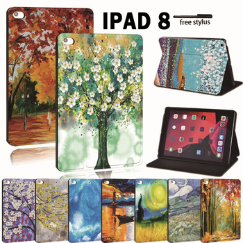 for-apple-ipad-8-10-2-2020-8th-8-generation-printed-pu-leather-smart-tablet-stand-folio-shockproof-cover-case
