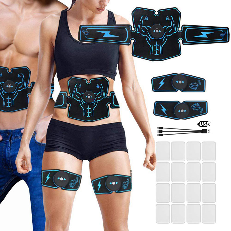 Abdominal Muscle StimulatorToner Rechargeable Smart Abs Fitness Gear Electronic Electrostimulation Exercise Home Gym Equipment