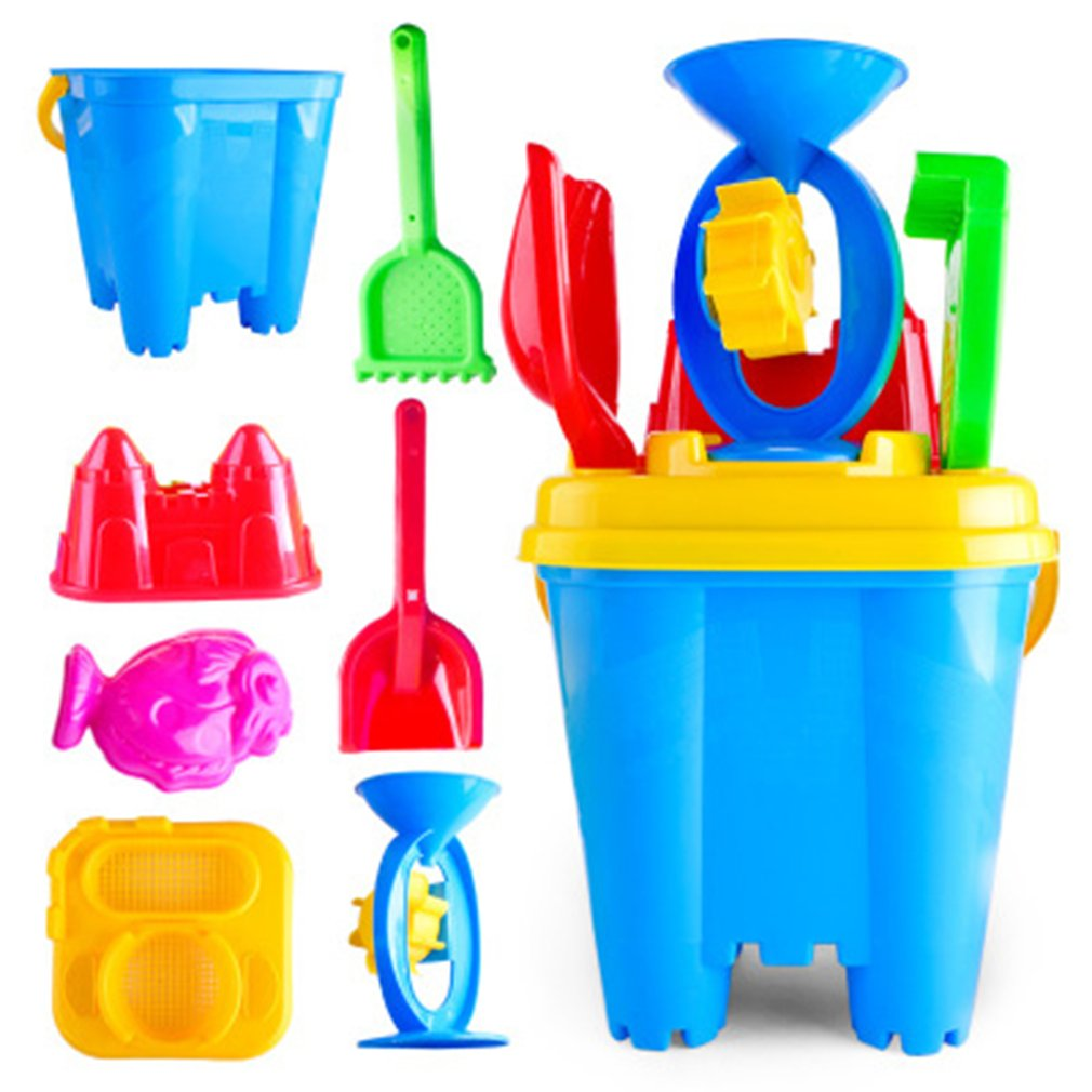 6/7pcs Novelty Mini Beach Toys Set Sand Pails Bucket With Shovel Rake Summer Pool Beach Sand Play Toys Gift For Children Kids