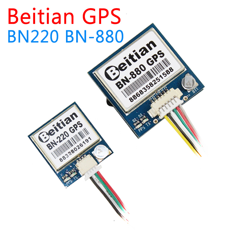 Beitian BN220 BN-880 3.0 V-5.0 V ระดับ TTL โมดูล GNSS GPS GLONASS Dual เสาอากาศโมดูล GPS ในตัวแฟลช, BN-220 BN880