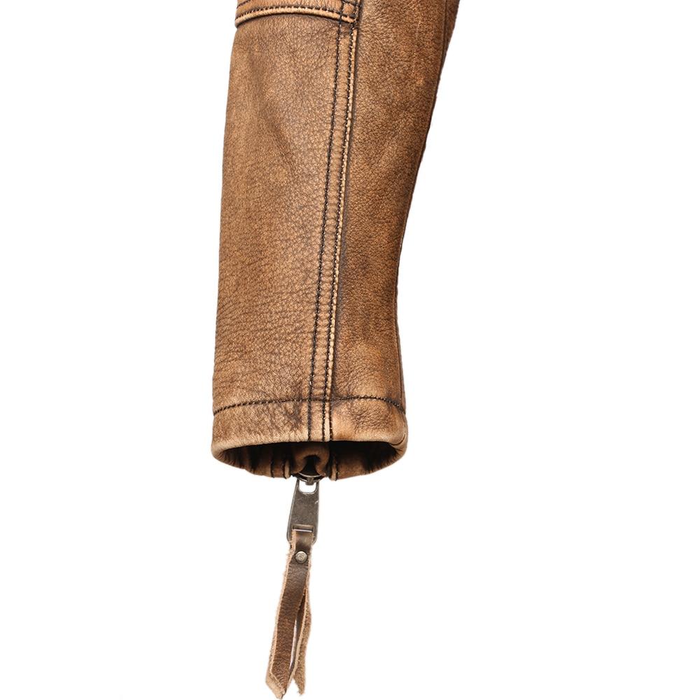 H9280a60c956849439353be96ca08026dX Vintage Motorcycle Jacket Slim Fit Thick Men Leather Jacket 100% Cowhide Moto Biker Jacket Man Leather Coat Winter Warm M455