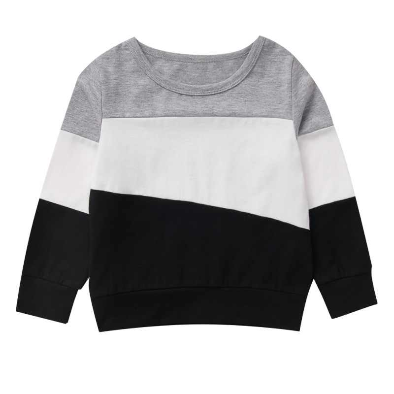New Baby Boy T-Shirt Long Sleeve Cotton Patchwork Children Clothes Kids Spring Blouse Baby Boys T shirts Tops Tee