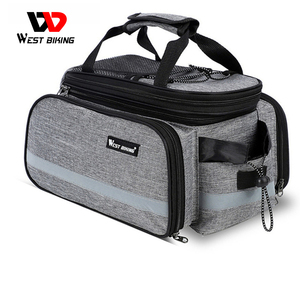Image 1 - WEST BIKING Waterproof Bike Seat Pannier Pack Luggage Cycling Bag 10 25L Bicycle Pannier Bag Rear Rack Trunk Bag With Rain Cover
