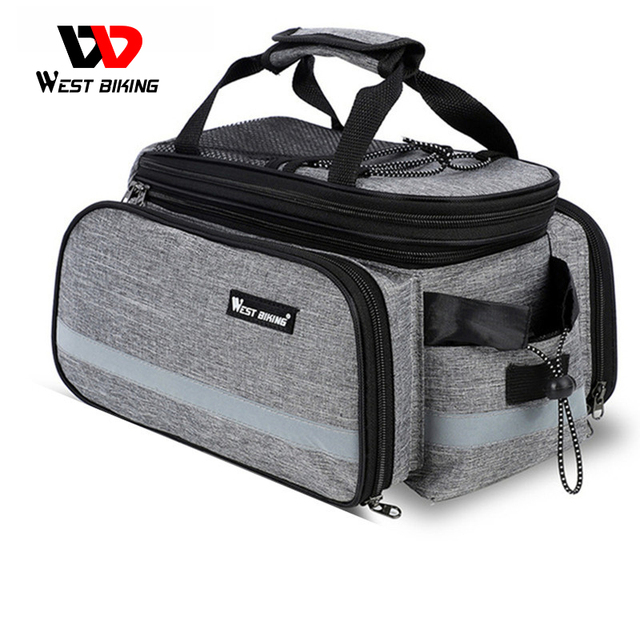 WEST BIKING Waterproof Bike Seat Pannier Pack Luggage Cycling Bag 10 25L Bicycle Pannier Bag Rear Rack Trunk Bag With Rain Cover